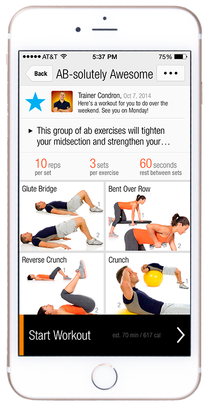 iPhone 6 Plus FitnessBuilder